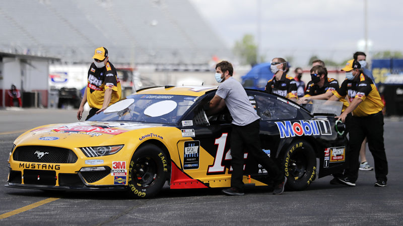 NASCAR driver Clint Bowyer's No. 14 car