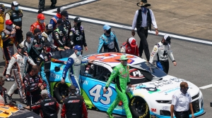 Bubba Wallace Tweets Awesome Photo Of NASCAR Drivers Rallying Around Him