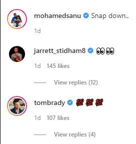 Patriots WR Mohamed Sanu; Patriots QB Jarrett Stidham, Buccaneers QB Tom Brady