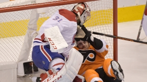 Watch Canadiens' Carey Price Make Incredible Stick Save Vs. Flyers
