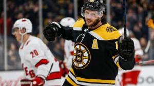 Watch David Krejci Score Opening Goal For Bruins Vs. Hurricanes In Game 2