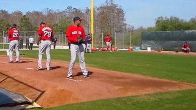 Boston Red Sox pitchers and catchers