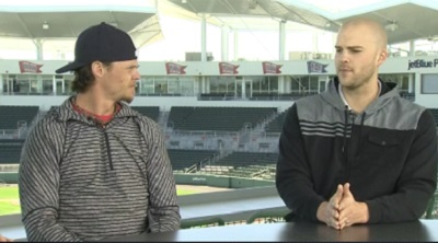 Clay Buchholz and Justin Masterson at spring training