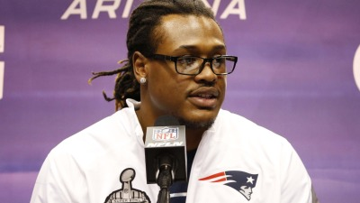 Patriots linebacker Dont'a Hightower at Super Bowl media day.
