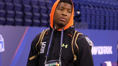 Jameis Winston at the NFL Scouting Combine.