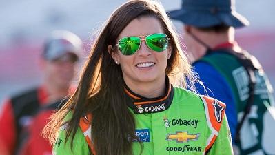 Danica Patrick At NASCAR Race
