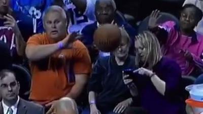 Hornets fan gets hit in face