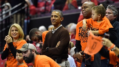 President Obama At Princeton NCAA Tournament Game