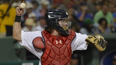 Boston Red Sox catcher Ryan Hanigan