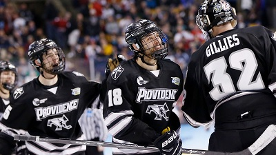 Jon Gillies and Providence College teammates