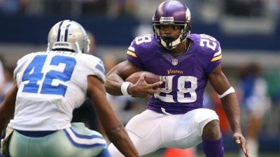 Vikings running back Adrian Peterson