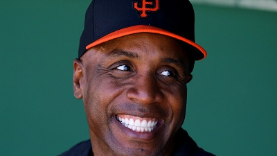 Barry Bonds at Giants spring training as a coach