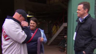 Boston Red Sox fan Brian Peterson