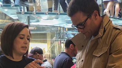 Tom Brady checks out Apple Watch