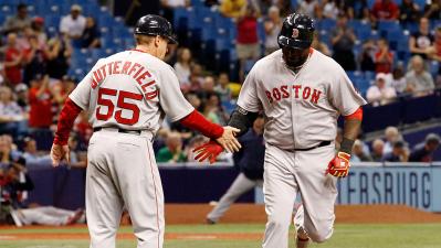 Boston Red Sox slugger David Ortiz and third base coach Brian Butterfield