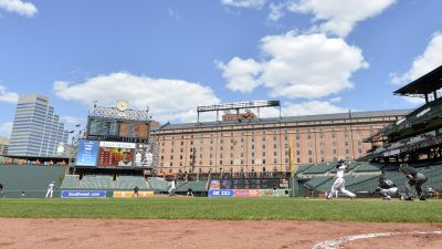 Empty Camden Yards, home of the Baltimore Orioles