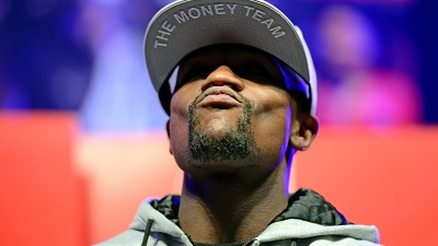 Floyd Mayweather arrives at MGM Grand