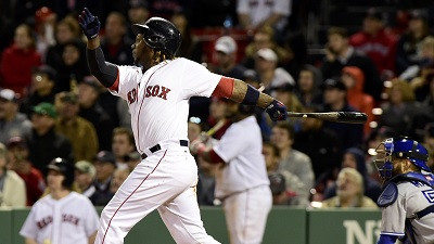 Hanley Ramirez hits his 200th career home run in the Red Sox's 11-8 loss to the Toronto Blue Jays.
