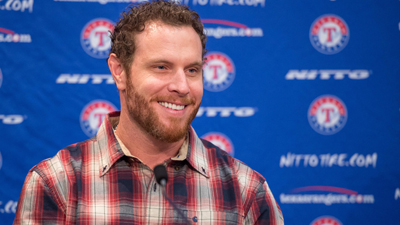 The Texas Rangers introduce newly signed outfielder Josh Hamilton