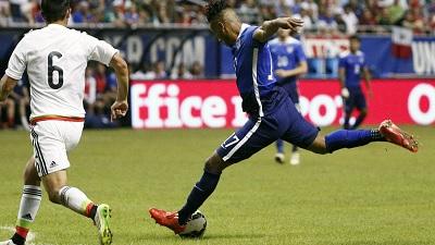New England Revolution and USA strike Juan Agudelo scores a goal vs Mexico