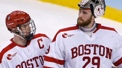 Boston University Terriers goalie Matt O'Connor