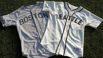 Red Sox, Mariners throwback uniforms