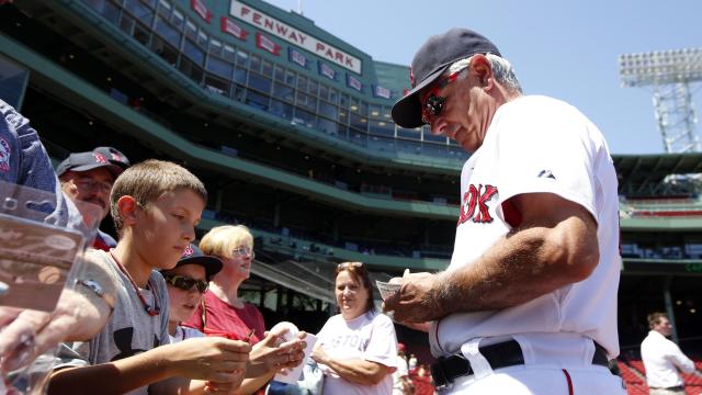 Boston Red Sox manager Bobby Valentine