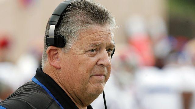 Kansas head coach Charlie Weis