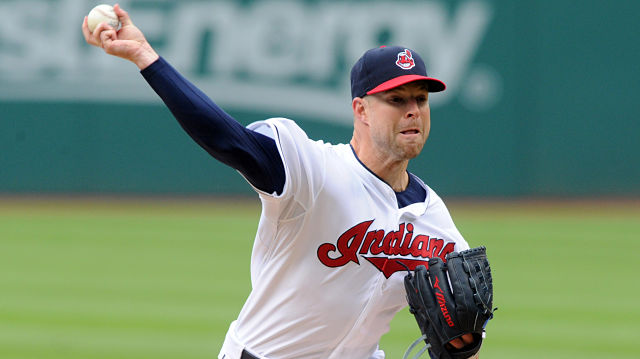 Cleveland Indians pitcher Corey Kluber