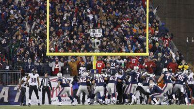 Patriots kicker Stephen Gostkowski