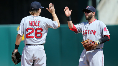 Brock Holt, Dustin Pedroia