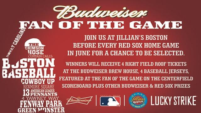 Join Jillian's Budwesier fan of the game