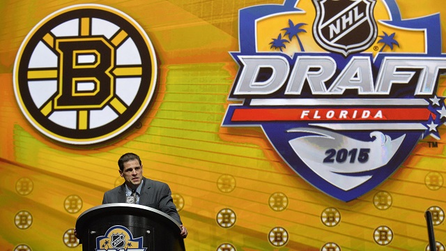 Bruins GM Don Sweeney at the 2015 NHL Draft