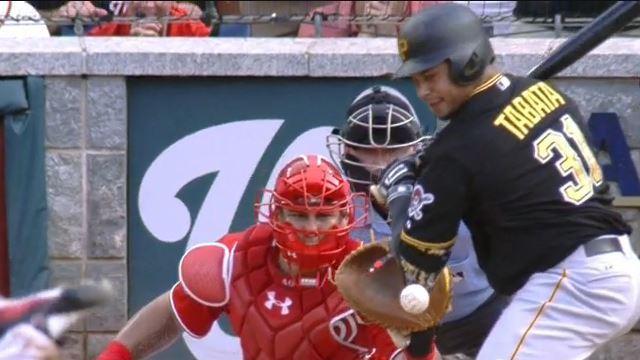 Pittsburgh Pirates outfielder Jose Tobata