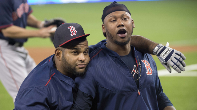 Boston Red Sox third baseman Pablo Sandoval and outfielder Hanley Ramirez