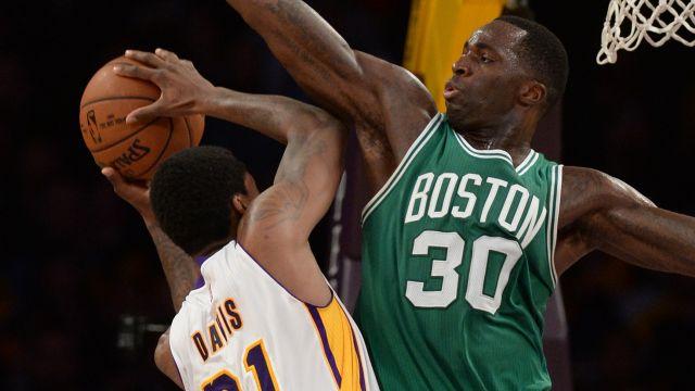 Boston Celtics center Brandon Bass