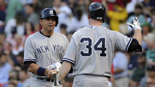 New York Yankees slugger Alex Rodriguez and catcher Brian McCann