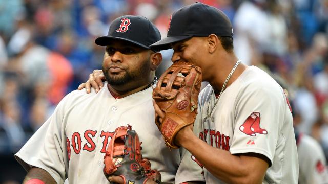 Boston Red Sox third baseman Pablo Sandoval and shortstop Xander Bogaerts