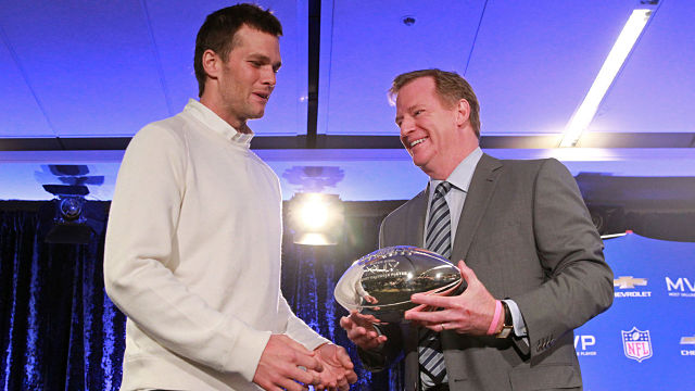 New England Patriots quarterback Tom Brady and NFL commissioner Roger Goodell