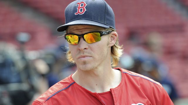 Boston Red Sox second baseman Brock Holt