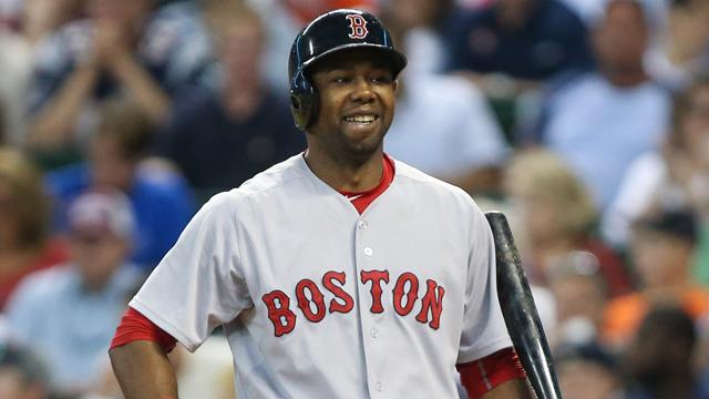 Red Sox outfielder Alejandro De Aza
