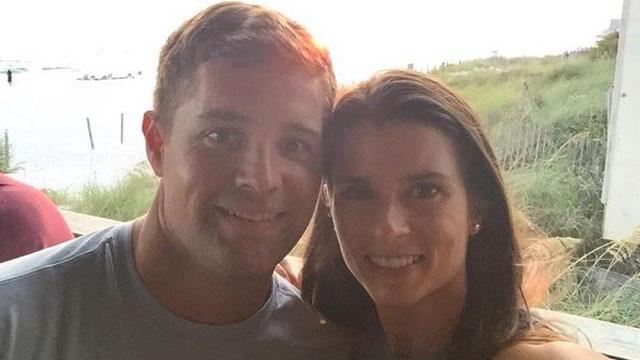Danica Patrick and Ricky Stenhouse Jr. on the beach
