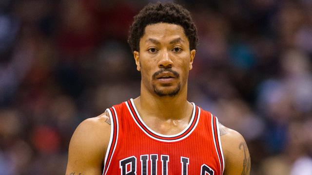 Chicago Bulls guard Derrickl Rose