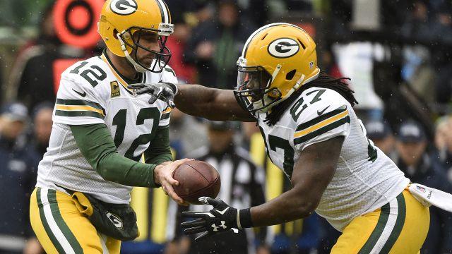 Packers running back Eddie Lacy