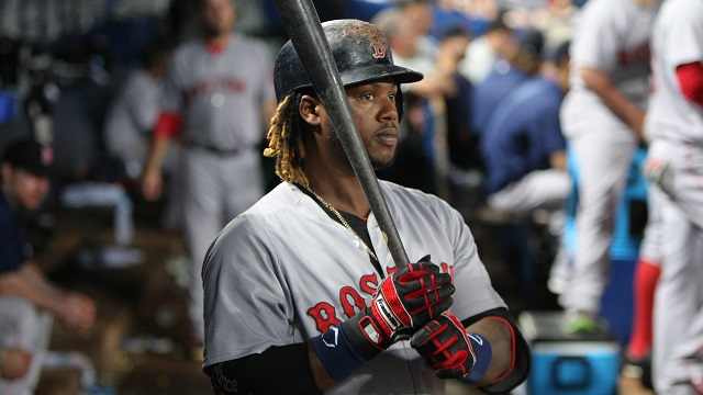 Boston Red Sox left fielder Hanley Ramirez
