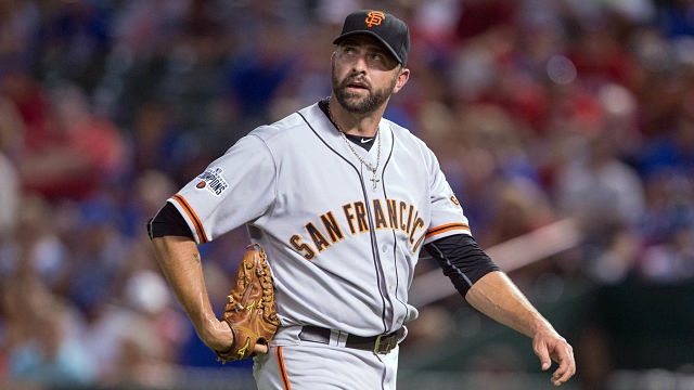 San Francisco Giants pitcher Jeremy Affeldt
