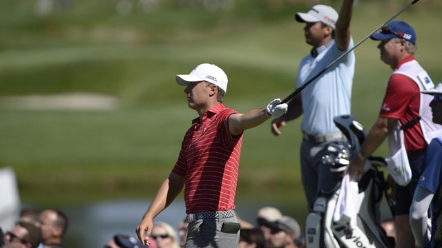 Jordan Spieth in second round of The Barclays