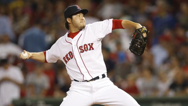 Boston Red Sox reliever Junichi Tazawa