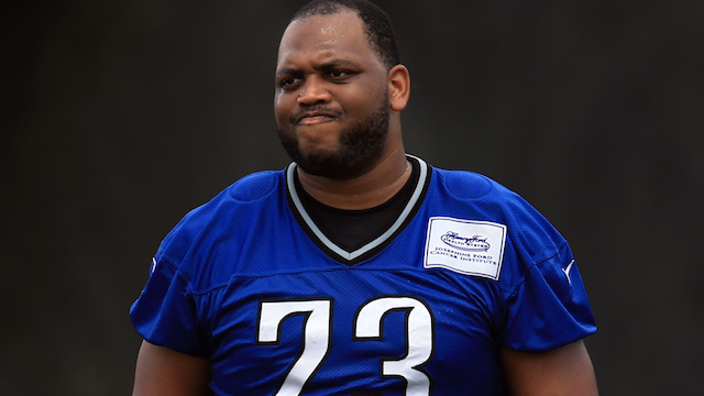 Lions tackle Michael Williams