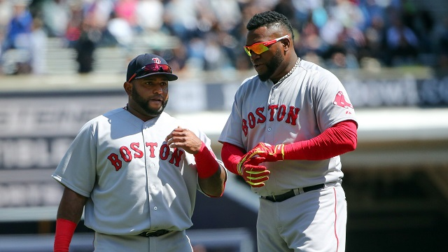 Boston Red Sox third baseman Pablo Sandoval and DH David Ortiz